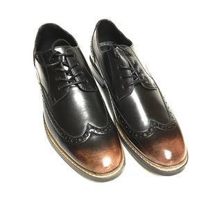 Bar III Leather Oxfords, Brown and Black, Size 11